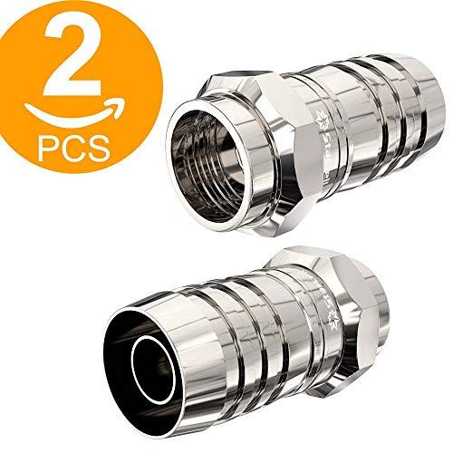 Ley 2Pack TV Adaptador de Cable coaxial de Antena Conectores F satélite F Tipo Tornillo Conector Enchufe A RF Coaxial Antena Macho Adaptador Convertidor