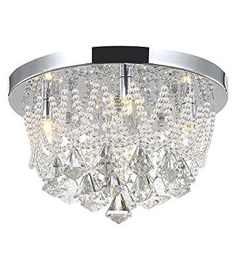 Kristall Wohnzimmer Deckenlampe Kronleuchter Deckenleuchte Lster Naida S 35cm Amazonde Beleuchtung