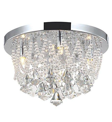 Kristall Wohnzimmer Deckenlampe Kronleuchter Deckenleuchte Lüster Naida-S 35cm
