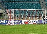 Fußballtor - Bundesliga - 7,32 x 2,44 m - freie Netzaufhängung, Farbe:weiß