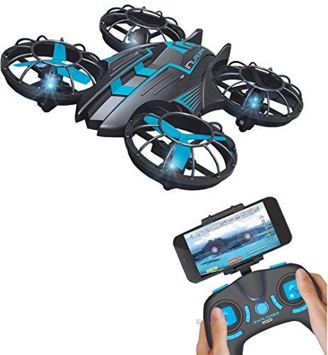 Mini Drohne mit WiFi, 0,3MP Kamera, 2,4G, Quadcopter, UFO, Hubschrauber, mit integriertem USB-Akku für JXD 515W, blue 515W