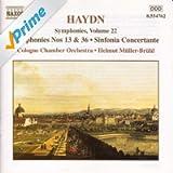 Haydn: Symphonies, Vol. 22 (Nos. 13, 36 / Sinfonia Concertante)
