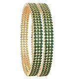 Ratnavali Joyas cz Circonita Oro Tono Verde Diamante Elegante...