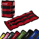 MOVIT® 2er Set Gewichtsmanschetten für Hand- und Fußgelenke, 7 Gewichtsvarianten, 2x 0,5kg - 2x 4 kg