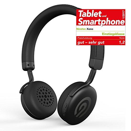 Solo-verstellbare Bügel (NINETEC Xono Wireless Bluetooth Stereo Bügel-Kopfhörer Headset HIFI Headphone Schwarz)