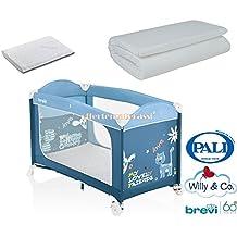 Coprimaterasso Materasso Willy & Co Campeggio Brevi Dolce Nanna Plus Azzurro