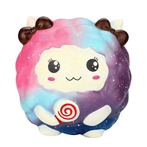 ueeze Spielzeug, Hmeng Jumbo Cartoon Kawaii Schafe Duft Langsam Rising Spielzeug | Handy Zubehör Dekoration | Geschenk (12*11.5*11.5cm, A) (Candy Bar-kostüm)