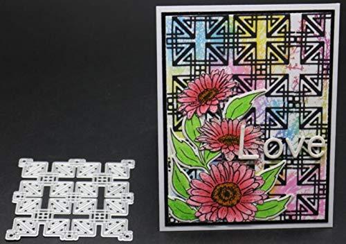 CTOBB Umschlag Cut Scrapbook Metallschneideisen für Scrapbooking Stencils DIY Album-Karten Dekoration Embossing Folder Cuts Die, Grau - Embossing Wort Folder