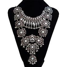 Las mujeres de moda vintage aleación Rhinestone corto clavícula collar