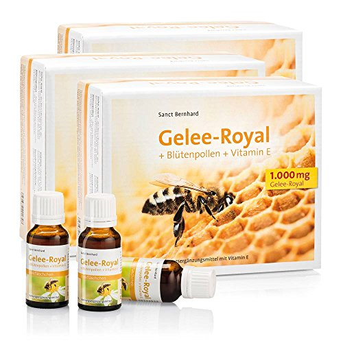 Sanct Bernhard Gelee Royal Trinkfläschchen Gelee-Royal, Blütenpollen, Vitamin E 1800 ml -