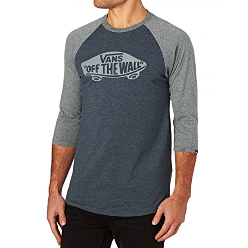 Vans Long Sleeve T-shirts - Vans Otw Raglan T-Shirt - Heather Navy-heather Grey (Raglan-t-shirt Heather Blue Navy)