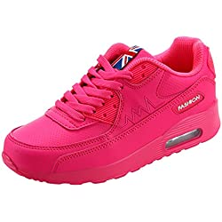 PADGENE Femme Baskets Course Gym Fitness Sport Chaussures Air Rose Taille EU 40