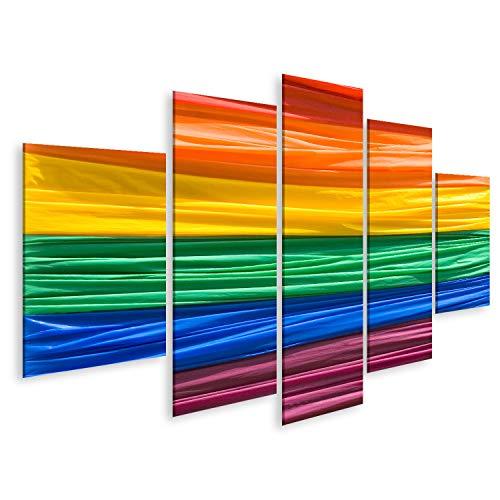 Bild Bilder auf Leinwand Dieses Bild zeigt eine Gay Pride Flagge Wandbild Poster Leinwandbild SZH