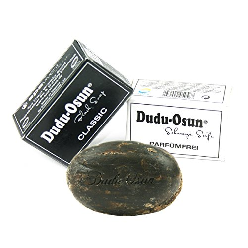 Dudu Osun - Connaissez Kit d'apprentissage 1 x DUDU Osun Classic - Original Savon de l'Afrique Noire - Original Black Soap de 25 g + 1 x de Savon Noir Sans Parfum Fragrance Free 25 g