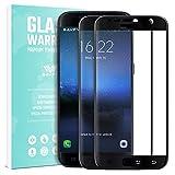 SAVFY 2×Unidades Samsung Galaxy S7 Protector de Pantalla, Verdadero 2.5D Vidrio Templado de Última Dureza y Perfecta Sensibilidad, Anti-Huella Dactilar Y Anti-Aceite para Samsung S7 5.1' Negro