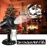 Led Weihnachtsbeleuchtung Außen und Innen mit Fernbedienung NACATIN 6W 3D Projektionslampe 360°Rotierender Projektor IP65 Weihnachtenlampe mit Timer für Garten Wohnzimmer Kinderzimmer