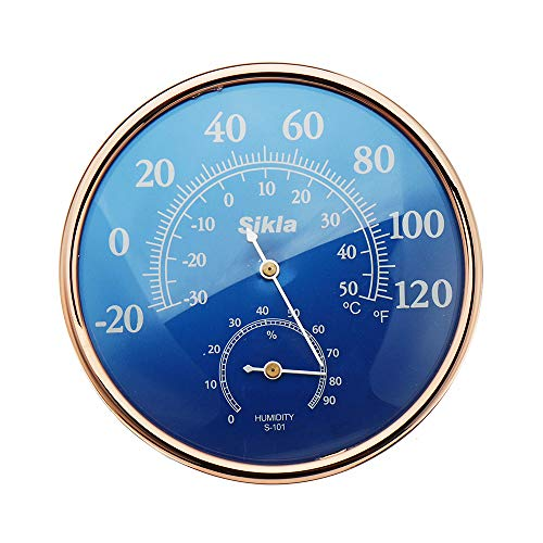 KUNSE Große Runde Fahrenheit Celsius Thermometer Hygrometer Temperatur Feuchte Monitor Meter Spur