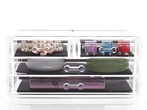 TuTu Creative Living Home Acrylic Desktop Storage Box Boîte de rangement cosmétique (24 * 13.5 * 11CM)