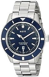 Neff Mens NF0233SLBL Pretender Analog Display Japanese Quartz Silver Watch