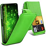 Fone-Case (Grün) HTC One M9s Hülle Abdeckung Fall Clamp Style Schutz PU Leder Flip-Cover