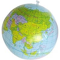 SODIAL(R) Juguete inflable Juguete educativo Globos de mapa de geografia pelota de playa 40 cm