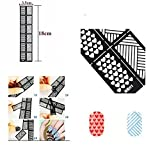 Jinny International Mixed Nail Art Manicure Stencil Stickers, Black (12 guides per sheet)