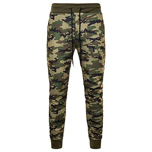 Pantaloni casual da uomo piedi alla moda pantaloni ampi sport traspiranti pantaloni sottili con coulisse mimetici uomo pantaloni casual