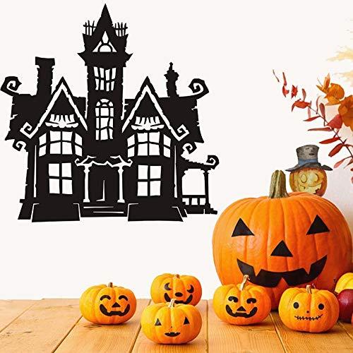 Scary Haunted House Halloween Party Aufkleber Moderne Wandaufkleber Für Kinder Wohnzimmer Wohnkultur Wasserdicht Zubehör Wall59 * 59 cm