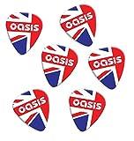 Oasis Union Jack Set Of 6 Loose Chitarra Plettro (F1)