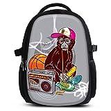 Rucksack für Jungen Mädchen Damen Herren - Schulrucksack Schulranzen Ranzen für die Schule - Backpack für Stadt/Sport für Kinder & Jugendliche - Cooles Design/aus Canvas Stoff - Cool Monkey