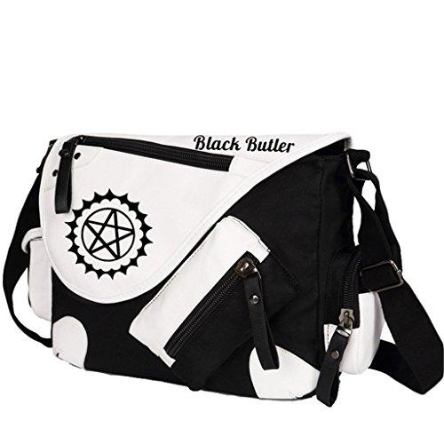 Yoyoshome giapponese anime Cosplay zaino Zaino Crossbody messenger bag borsa a tracolla nero Fairy Tail 1 Black Butler 1