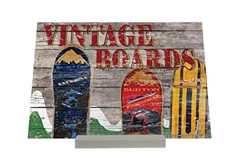 Cadre Photo Retro Déco Snowboards montagnes Vintage Publicité Piastra