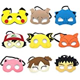 Pokemon Cartoon Hero Party Favors Dress Up Masks Costumes Set of 9 by Koolkid
