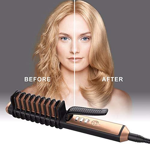 Auto-shut-off-kit (MJYK 2 In 1 Ionic Hair Straightener Elektro Bürste Keramik Kämmerung Temperatur Adjustable Auto Shut-Off Wenniu)