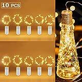 Foonii 10 Pack Guirnalda Luces, 2M*6+1M*4 LEDs Cadena de Luces Pilas Alambre de Cobre para Decoración para Iluminación DIY, Navidad y Decoración Fiesta, Blanco Cálido