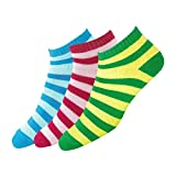 #8: Maanja Women's Colourful Ankle Socks (Multi-Coloured, Set of 3 Pairs)