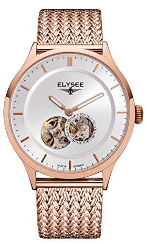 ELYSEE MEN'S NESTOR 40MM ROSE GOLD PLATED BRACELET AUTOMATIC WATCH 15103M