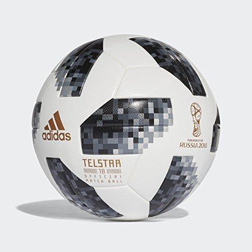 adidas Herren FIFA WM offizieller Spielball Ball, White/Black/Silver Metallic, 5 (Ball Adidas Original)