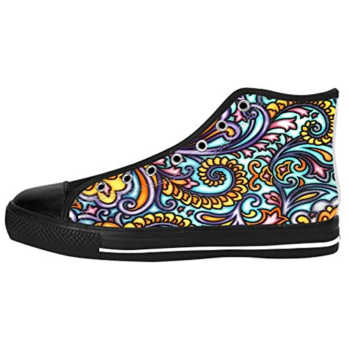 Dalliy Paisley Colored Print Women's Canvas Shoes Lace-up High-top Footwear Sneakers Chaussures de toile Baskets A