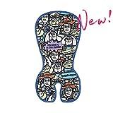 BIGLOVE Atmungsaktive Sitzeinlage Komfort Gel + Baumwolle Universal Vier-Jahreszeiten,für Kinderwagen, Buggy, Kindersitz und Babyschale