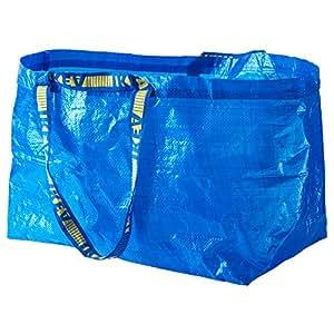 Ikea Frakta Lot de 3 grands sacs à course/à linge Bleu