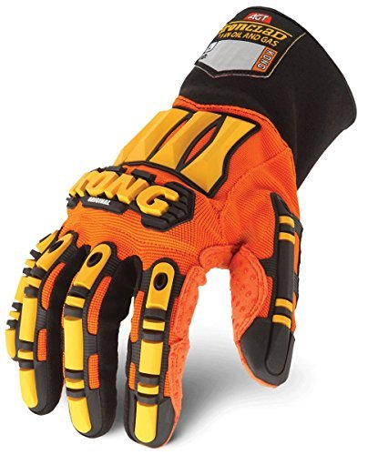 Image of KONG SDX2-03-M Performance Mens Work Gloves Safety Oil & Gas Rigging Orange Medium by Ironclad