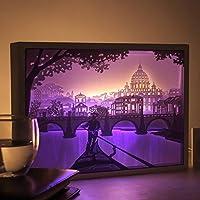 papierschnitt licht box beleuchtung lampe 6 led perlen romantische lamp entspannende stimmung lichtprojektor baby - Romantische Schlafzimmer Beleuchtung