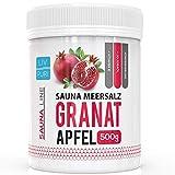 Sauna Meersalz Peeling Salz Saunasalz | Granatapfel 500g | mit Jojobaöl | Kosmetik für die Haut | Ideale Wellness