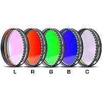 Baader Planetarium - Juego de filtros CCD para fotografía (50,8 mm, LRGBC, H-alpha 35 nm, OIII 8,5 nm, SII 8 nm)