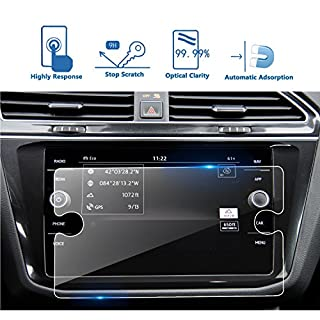 Volkswagen VW Tiguan II GTE Allspace 8-inch Discover Media Navigation Screen Protector, LFOTPP 9H Anti Scratch HD Clear Tempered Glass Car Navigator Protective Film