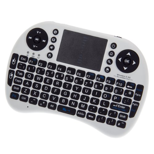Handbrause Mini 2,4 gHz Windows Media Center MCE Kabellose Tastatur/Maus Fernbedienung mit Führungsschiene für Windows XP/Vista/7 pc/Xbox 360 HTPC/PS3