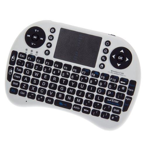 Handbrause Mini 2,4 gHz Windows Media Center MCE Kabellose Tastatur/Maus Fernbedienung mit Führungsschiene für Windows XP/Vista/7 pc/Xbox 360 HTPC/PS3 (Media Center Xbox 360)