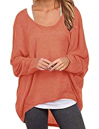 d5bd5807196 Zanzea Pull Oversise Femme Hiver Chemise Manches Chauve-Souris Casual Tee  Shirt Grand Taille Pull