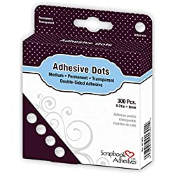 3L 3L01301 Lot de 300 pastilles adhésives Double-Face, Transparent, 9 x 11,5 x 2,5 cm